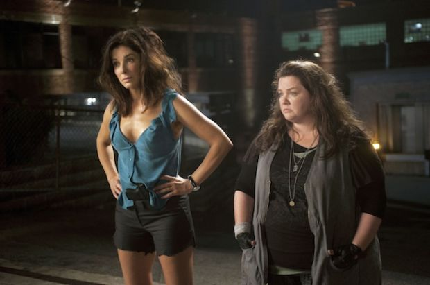 DF-05582_R2 - Another night chasing the bad guys for ill-matched partners, FBI Special Agent Sarah Ashburn (Sandra Bullock) and Boston Detective Shannon Mullins (Melissa McCarthy).