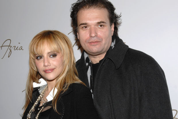 New York, NY - 02- 04 - 08 - Mercedes-Benz New York Fashion Week Fall 2008 Max Azria Fashion Show - Backstage -PICTURED:Brittany Murphy and Husband Simon Monjack -PHOTO by: Paul Hawthorne/Startraksphoto.com -FileName: PT110956.JPG #Event/#Photo= 30894988100/30894989004