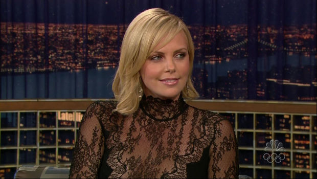 Charlize Theron Late Night with Conan O'Brien 12 October 2005