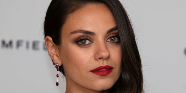 LONDON, ENGLAND - JUNE 23: Actress and Gemfields brand ambassador, Mila Kunis, attends a photocall for the launch of Gemfields Mozambican rubies in London at Corinthia Hotel London on June 23, 2015 in London, England. (Photo by David M. Benett/Getty Images for Gemfields)