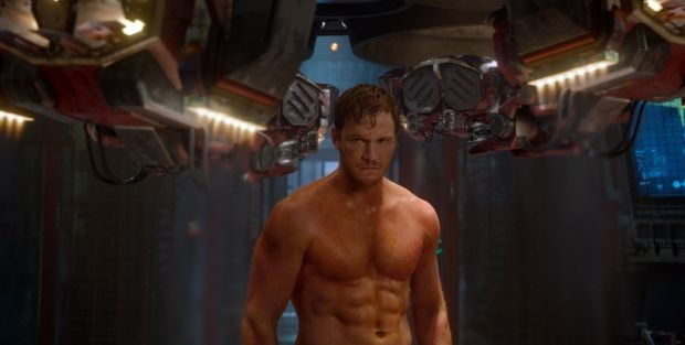 ***SUNDAY CALENDAR SNEAKS FOR APRIL 27, 2014. ***DO NOT USE PRIOR TO PUBLICATION*** Scene from the movie Marvel's Guardians Of The Galaxy Peter Quill/Star-Lord (Chris Pratt) Ph: Film Frame ©Marvel 2014