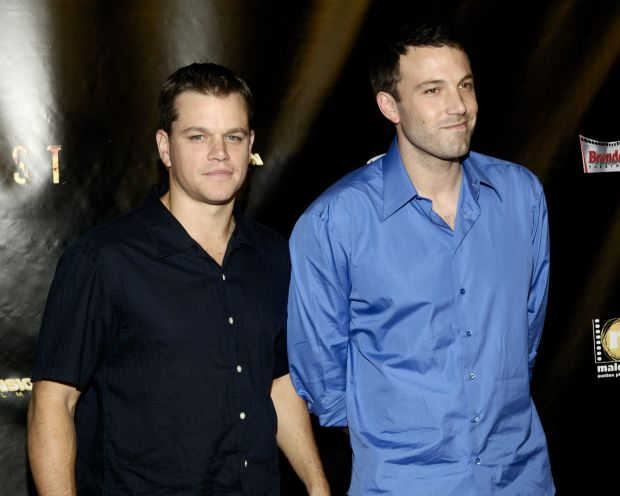 Matt Damon and Ben Affleck at the world premiere of Dimension Films movie 'Feast', held at the Brenden theaters inside the Palms Casino Resort in Las Vegas. The film was the winner of the third season of 'Project Greenlight' on the Bravo television network. Picture by: Scott Doctor Ref: SDLV 120906 A Splash News and Pictures Los Angeles:310-821-2666 New York: 212-619-2666 London: 207-107-2666 photodesk@splashnews.com www.splashnews.com
