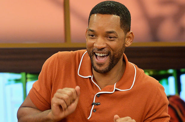"""MIAMI, FL - FEBRUARY 04: Will Smith is on the set of Despierta American to promote his film """"Focus"""". at Univision Studios on February 4, 2015 in Miami, Florida. (Photo by Gustavo Caballero/Getty Images)"""