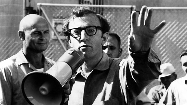 WOODY ALLEN directs TAKE THE MONEY AND RUN, 1969
