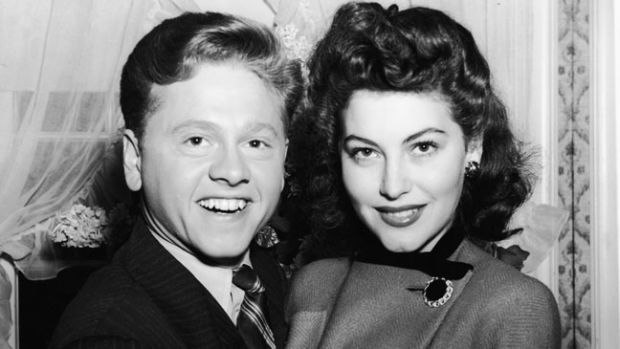 American actor Mickey Rooney and his first wife American actress Ava Gardner (1922 - 1990) shortly before their wedding, January 1942. (Photo by Hulton Archive/Getty Images)