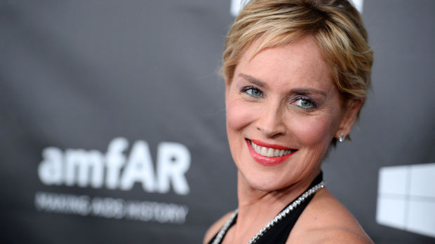 Sharon Stone arrives at the 2014 amfAR Inspiration Gala at Milk Studios on Wednesday, Oct. 29, in Los Angeles. (Photo by Jordan Strauss/Invision/AP)