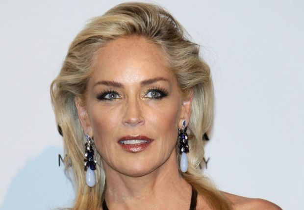 SHARON STONE at amfAR Milano 2012 at Milan Fashion Week